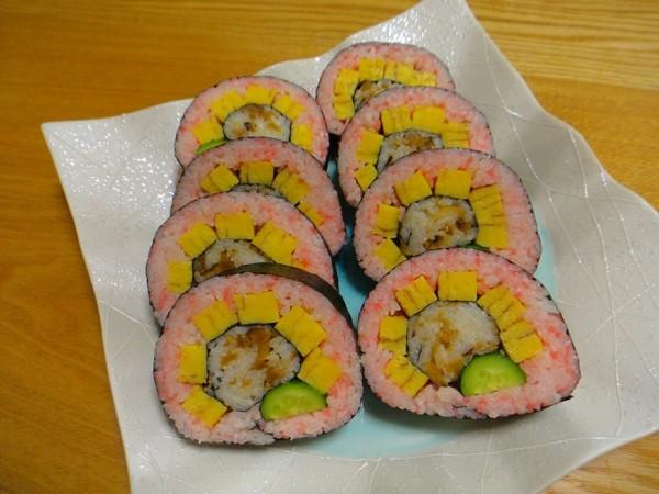 太巻き祭り寿司(ひまわりver.)